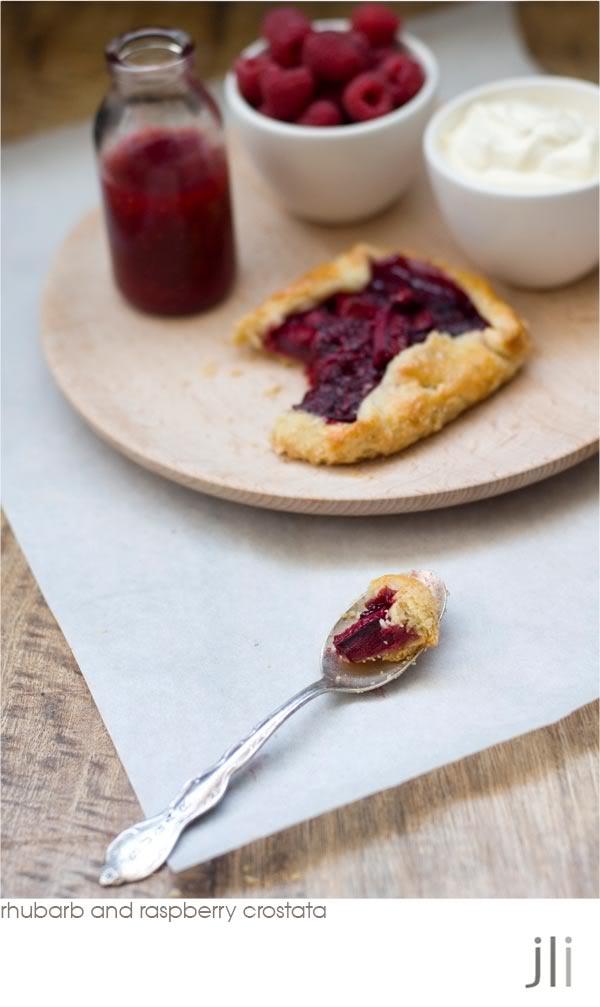 rhubarb and raspberry crostata | Other Desserts | Pinterest