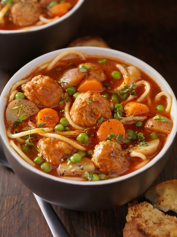 Meatball Soup - A great meal and winter warmer, Italian Meatball Soup ...