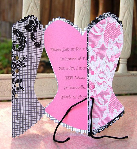 Bridal shower invitation made using the #Cricut and the new Bridal ...