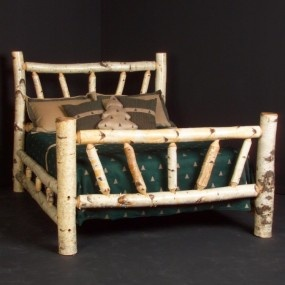 Birch Log Bed. What could be more rustic and beautiful at the same time than White Birch