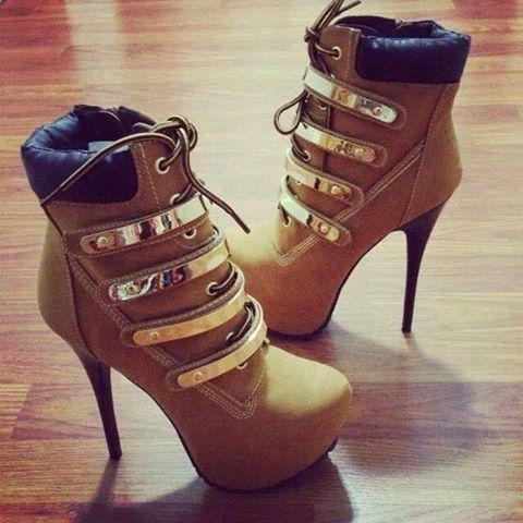 Caramel high heels boots.THESE ARE HOTT!