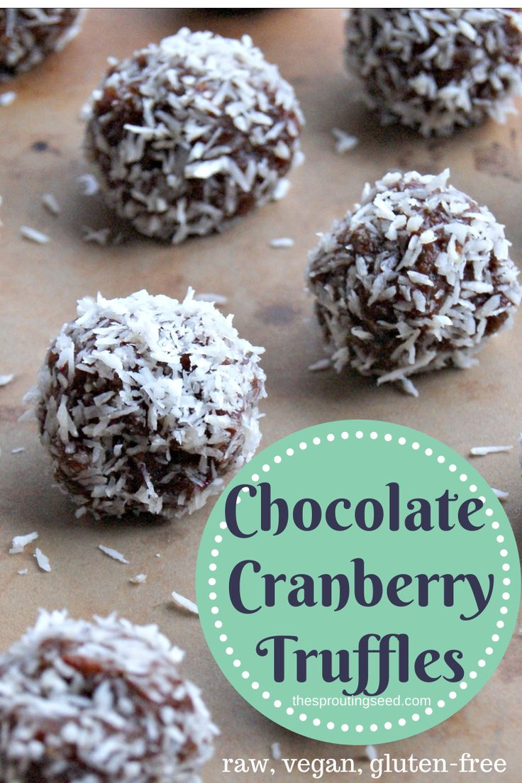Cranberry Chocolate Truffles Recipe — Dishmaps