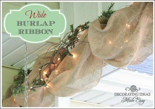 Decorating with burlap | Christmas + Snow | Pinterest