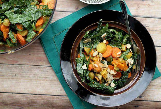 Miso-Harissa Roasted Squash, Carrot & Two-Potato Salad | 31 Delicious ...