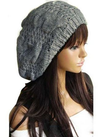 Slouch Beanie for Women Grey LOVE this... WOMEN'S KNIT SLOUCH BEANIES $4 SHIPPED!