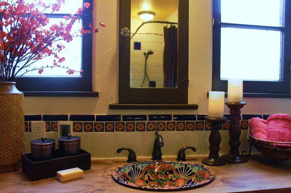 spanish style bathroom home design pinterest