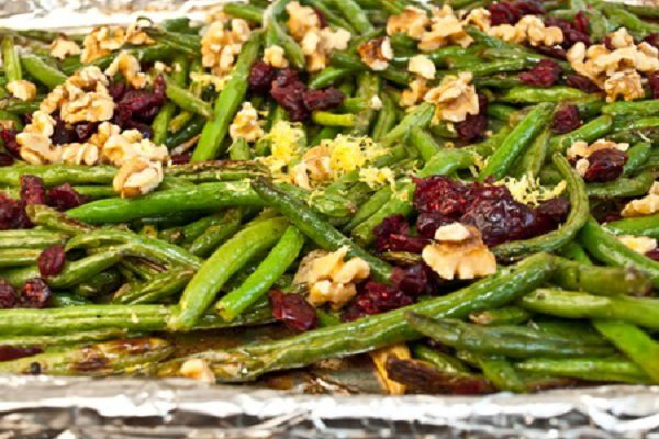 Roasted Green Beans with Cranberries and Walnuts from Once Upon a Chef
