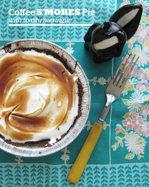 Coffee S'mores Pie // take a megabite Thanks to @Bon Appetit for the ...