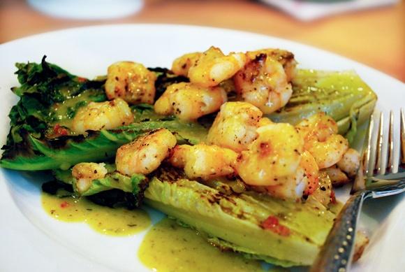 Grilled Romaine & Shrimp Salad   Recipes   Pinterest