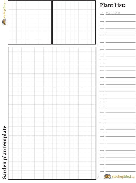 Garden plan template   Gardening   Pinterest