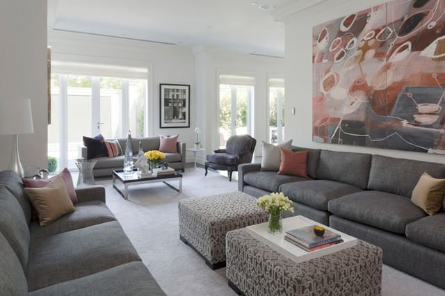 Multiple seating arrangements living rooms pinterest for Living room seating arrangements