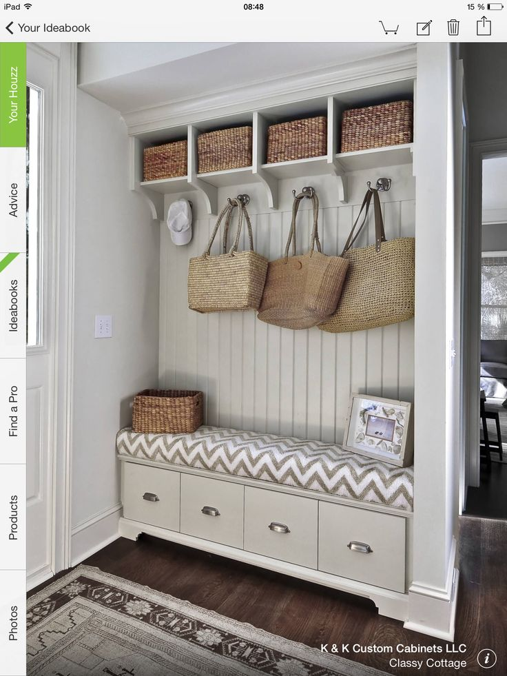 Best Ideas for Entryway Storage Storage benches, Mudroom and Bench