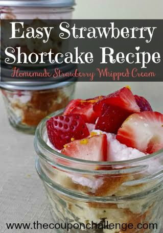 Easy Strawberry Shortcake Recipe {in a Jar} with Strawberry Whipped Cream