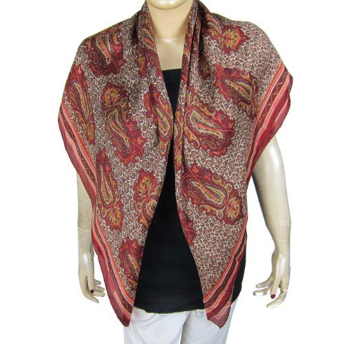 Scarves and Wraps Indian Scarf Silk Clothing for Women 43 X 43 Inches