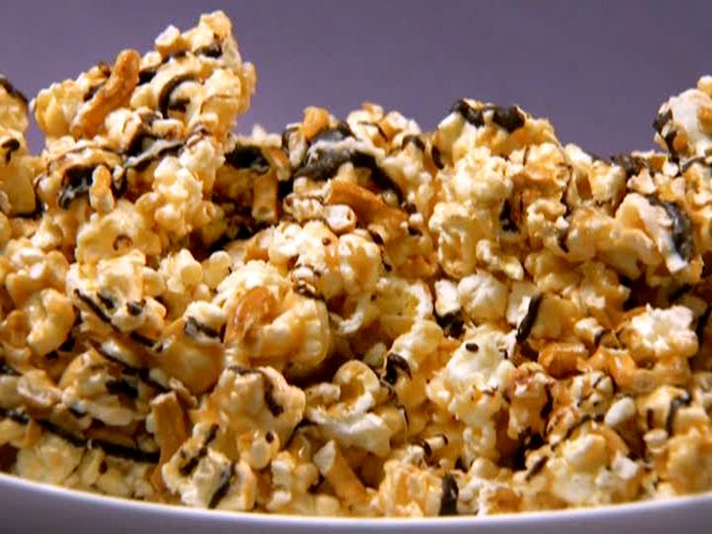 dessert popcorn! I tweak it a bit by adding about double the peanut ...