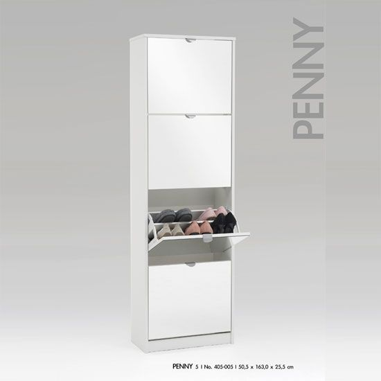 Tall Mirrored Shoe Cabinet. Tall Mirrored White Shoe ...