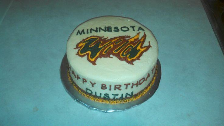 Minnesota Wild themed Birthday Cake