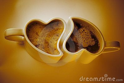 Heart Shaped Cups Of Coffee Design Pinterest