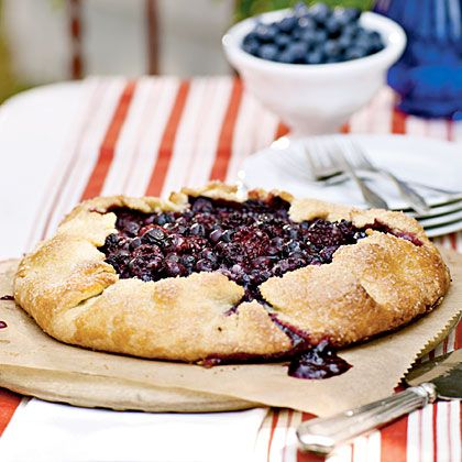 blackberry & blueberry galette with cornmeal crust :: http://www ...