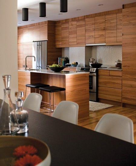 Chambre Bleu Marine Gris : Cuisine zen  25+ des plus belles cuisines au Québec  Maison & Demeu