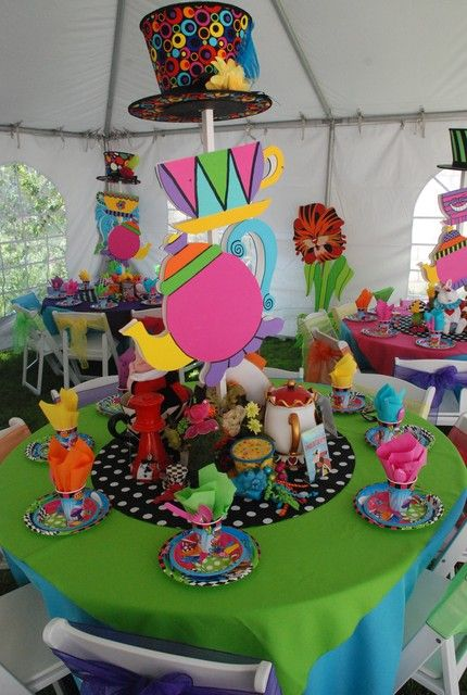 Decorations for Alice in wonderland birthday decoration ideas
