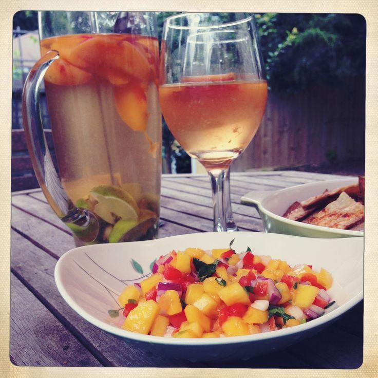 Mango habanero salsa | Fiesta! | Pinterest