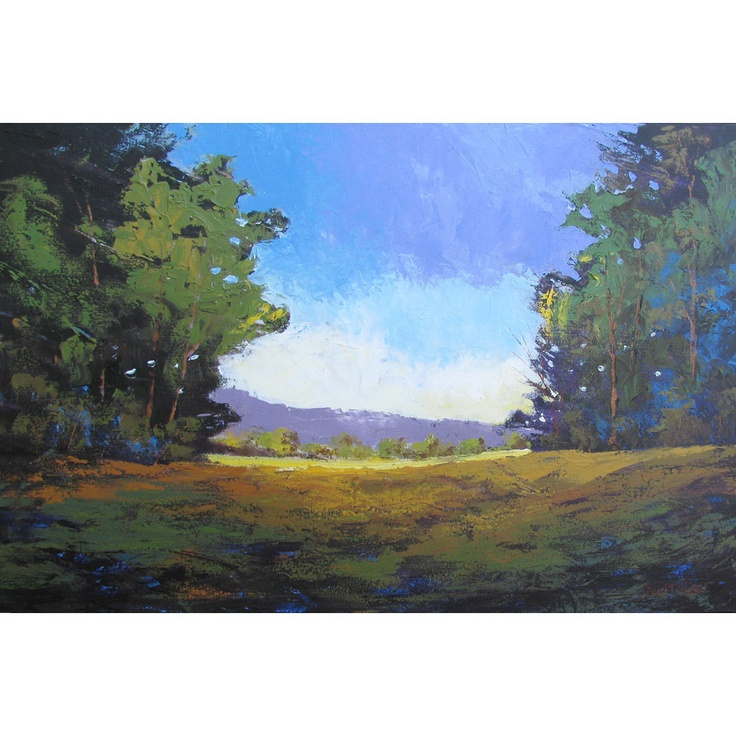 Original Landscape Painting Abstract Canvas Acrylic Trees