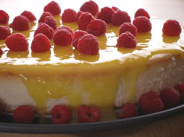 Goat Cheesecake With Lemon Curd and Raspberries (By Bird). Photo by ...