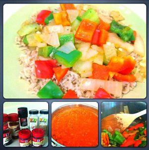 Dirty Rice and Creole Sauce #vegetarian #vegan