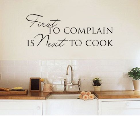 Wall art sticker decal kitchen dining room quote first for Dining room wall art stickers