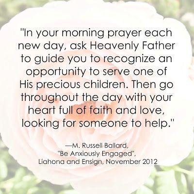 M. Russell Ballard LDS Quote on Service www.sprinklesonmyicecream.blogspot.com