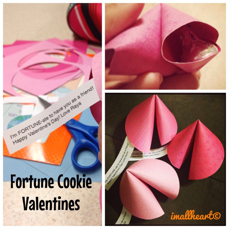 valentine's day fortune cookies out of paper