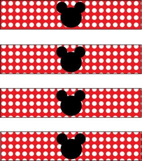 bottle labels for Minnie Mouse party