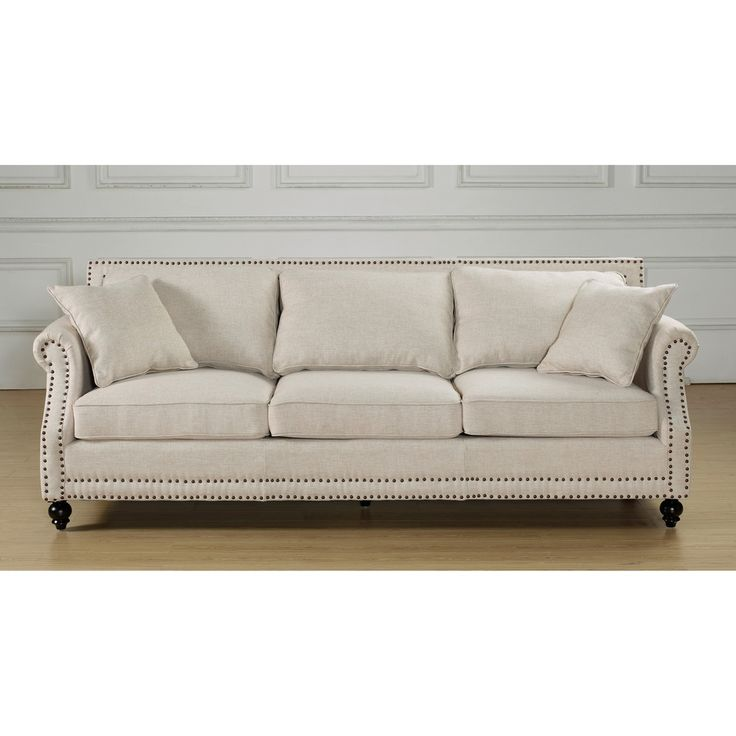 camden beige linen sofa. Black Bedroom Furniture Sets. Home Design Ideas
