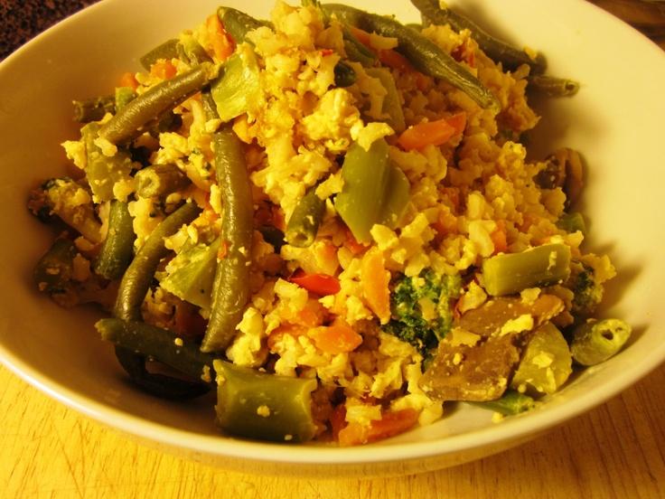 Veggie Fried Rice 6+points for WW. | Weight Watchers | Pinterest