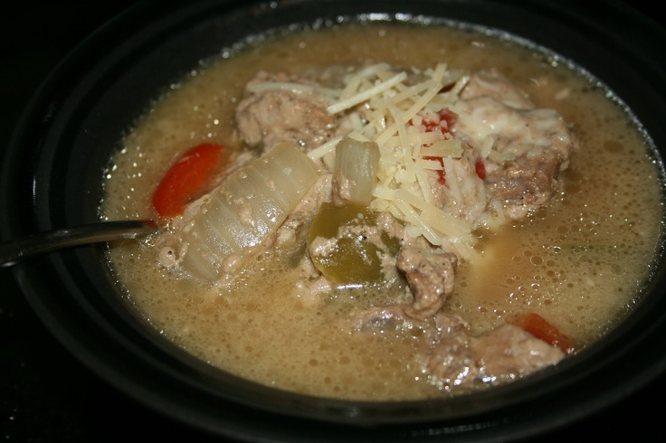 CrockPot Philly Cheesesteak Soup Recipe