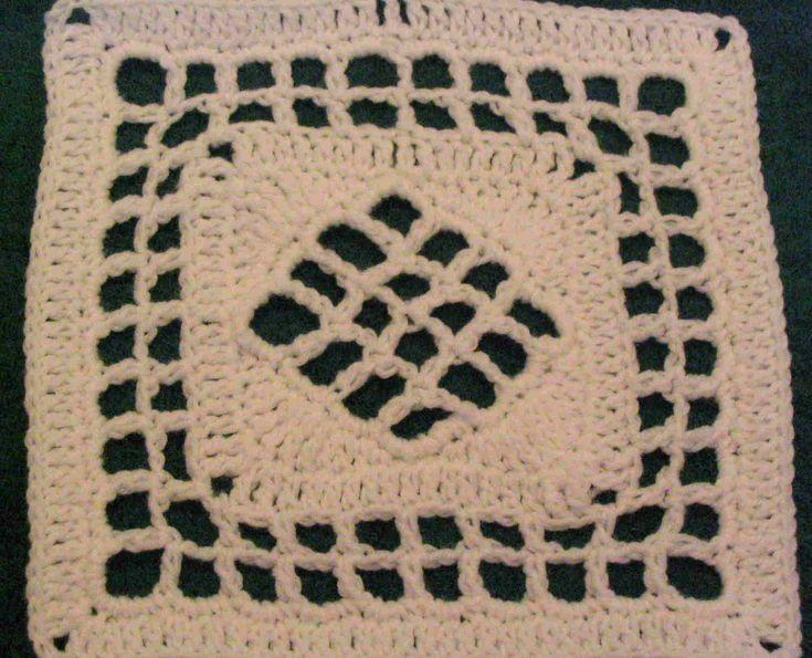 Crochet Stitch M2 : Pattern Template.. Window Pane by Chris Simon