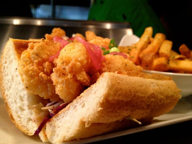 Fried White Shrimp Po-Boy/Ramp Remoulade/Shaved Cabbage/Tomato/Pickled ...