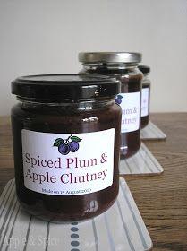Plum & apple chutney to make   Food I drool over   Pinterest