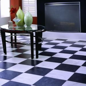 Innovations black and white chess slate home design idea for Innovations laminate flooring