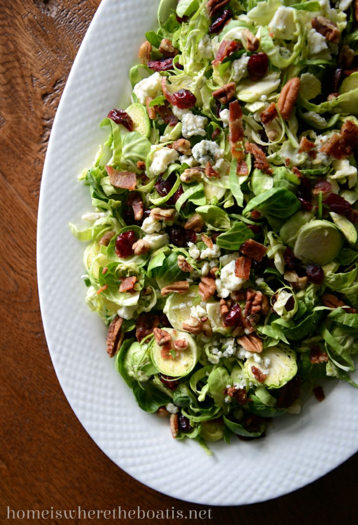 Shredded Brussels sprout salad | Recipes | Pinterest