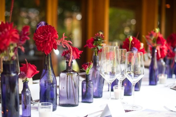 Red and Purple Wedding Ideas very cute and simple