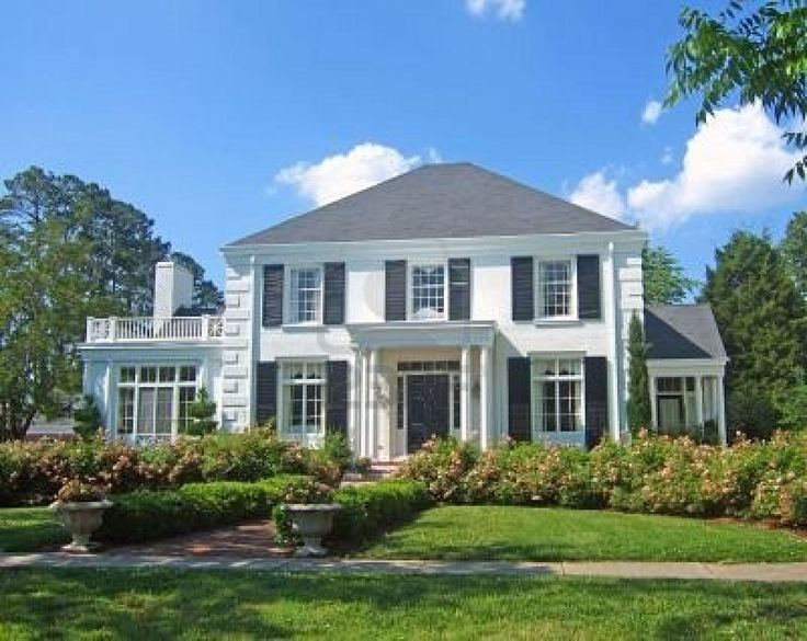 Colonial house front porch pinterest for Colonial homes