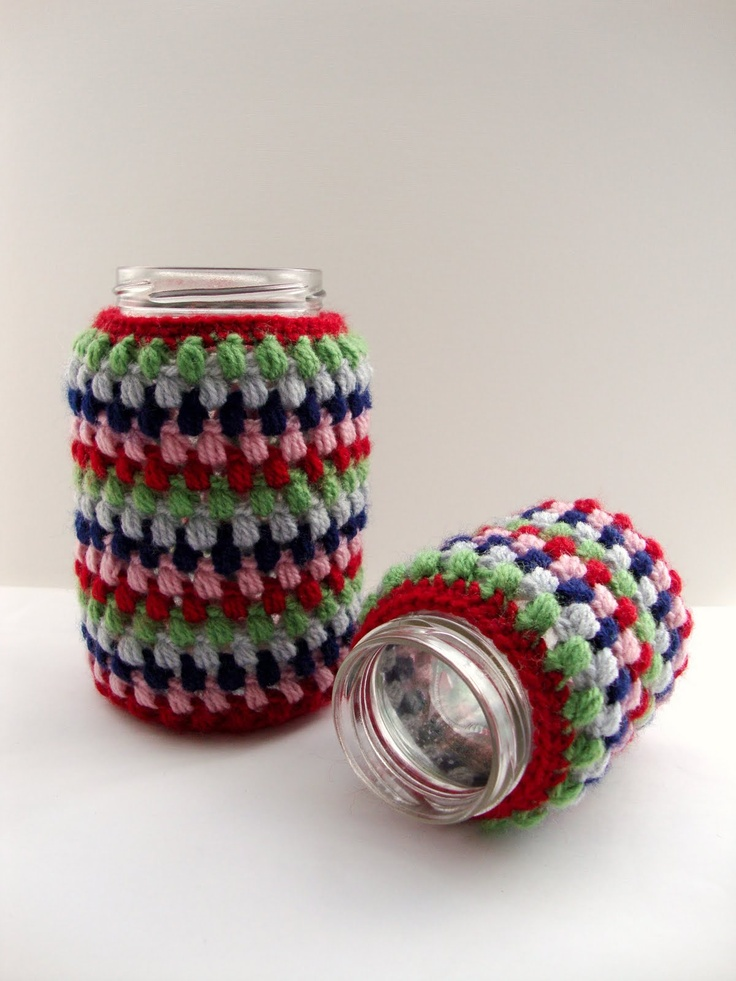 ... Stubborn Knitter: Crochet jar covers CROCHET KRAZY~Covers~Jar