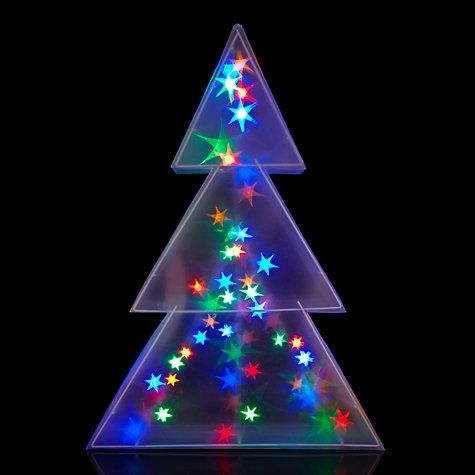 Buy John Lewis Indoor Holographic Christmas Tree Light, H75cm online a