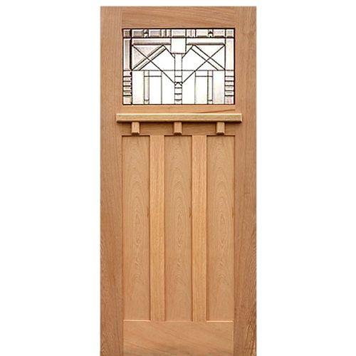 Craftsman style front door ac 701 a craftsman style door in red oak