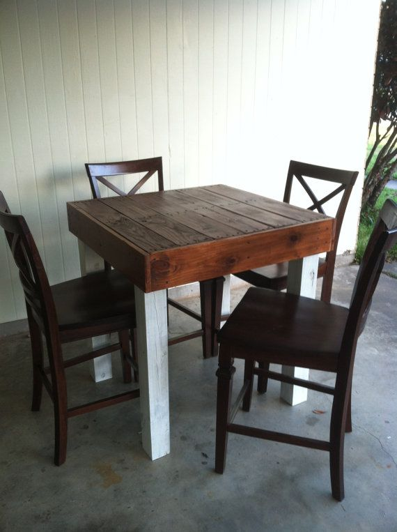 Reclaimed Pallet Wood Dining Table, Upcycled, Pub Size Pallet Wood Table, Louisiana