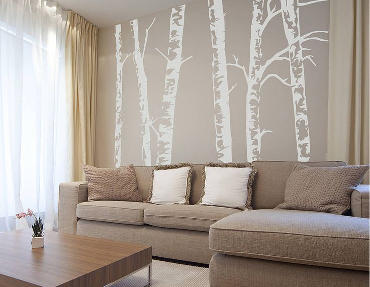 BRING THE OUTDOORS INDOORS WITH THIS BEAUTIFUL SILVER BIRCH WALL STICKER!