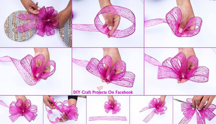 How to tie a bow | Christmas/December | Pinterest