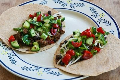 Kalyn's Kitchen®: Recipe for Spicy Beef and Black Bean Soft Tacos ...